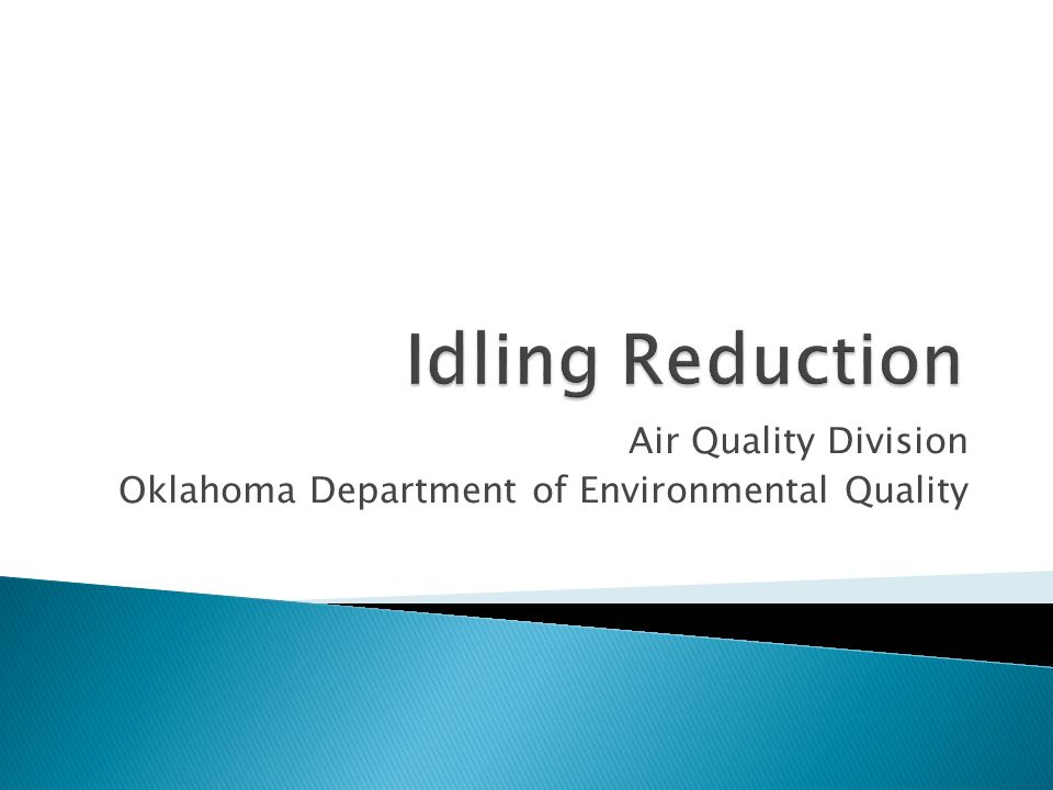 Air Quality Division Oklahoma Department of Environmental Quality