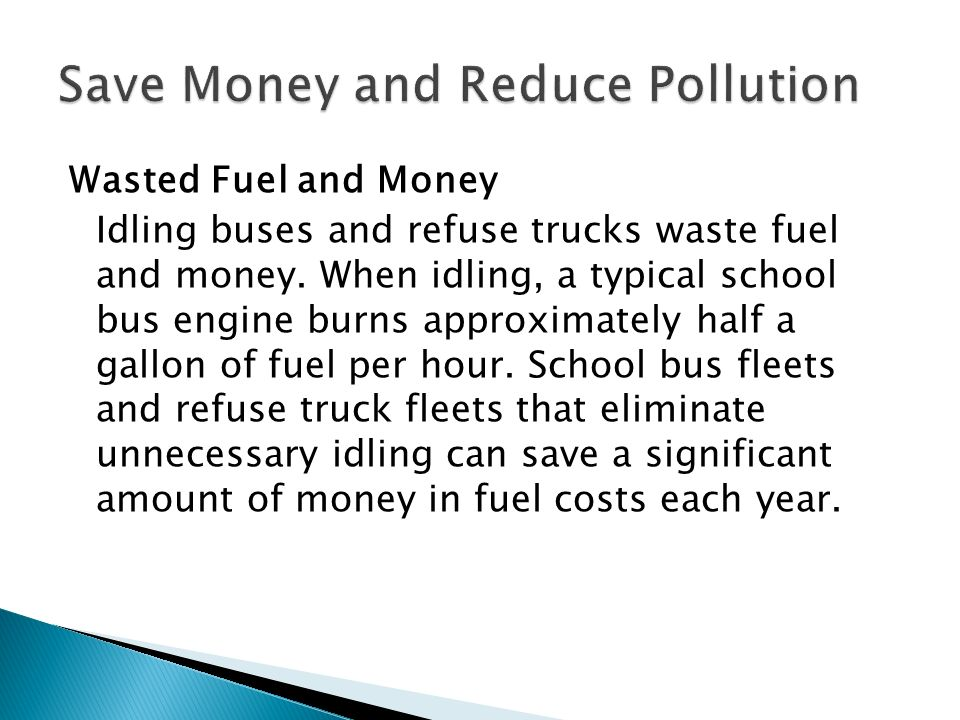 An Idling reduction policy is a required component of the application and award In the applications, applicants will need to describe the idling reduction policy to be implemented Include how all unnecessary idling will be eliminated by your organization such that idling time is minimized in all aspects of fleet operation