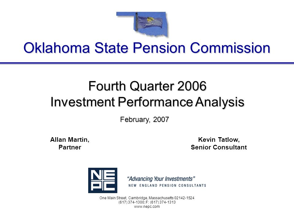 L:\CLIENTS\Oklahoma\IPA\Exec Reports\2006\2006-Q4 Exec Ipa.ppt 60 Information Disclosure New England Pension Consultants, Inc.