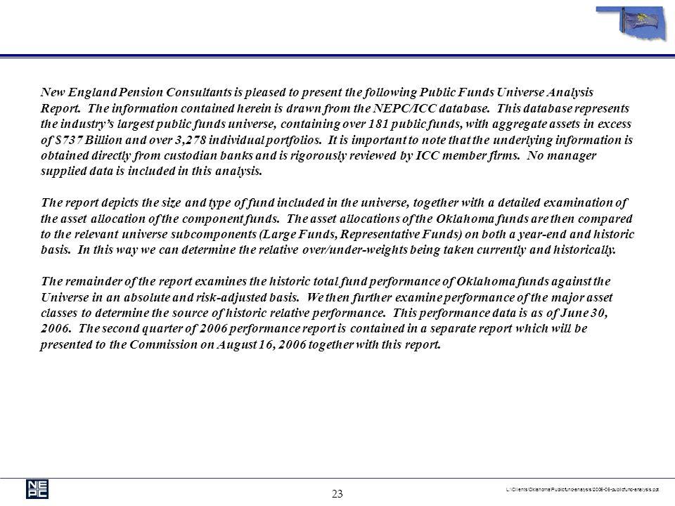 22 L:\Clients\Oklahoma\Publicfund-analysis\2006-06-publicfund-analysis.ppt Appendix