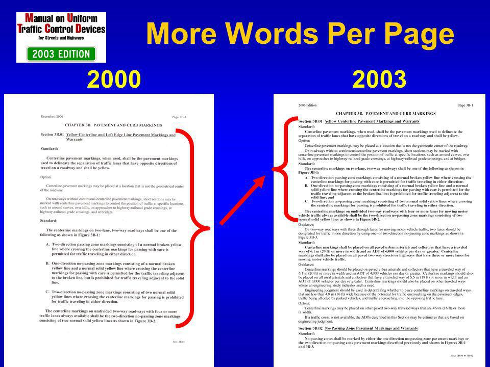 More Words Per Page 2000 2003
