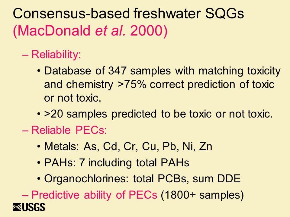 Consensus-based freshwater SQGs (MacDonald et al.