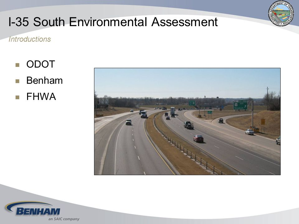 ODOT Benham FHWA I-35 South Environmental Assessment Introductions