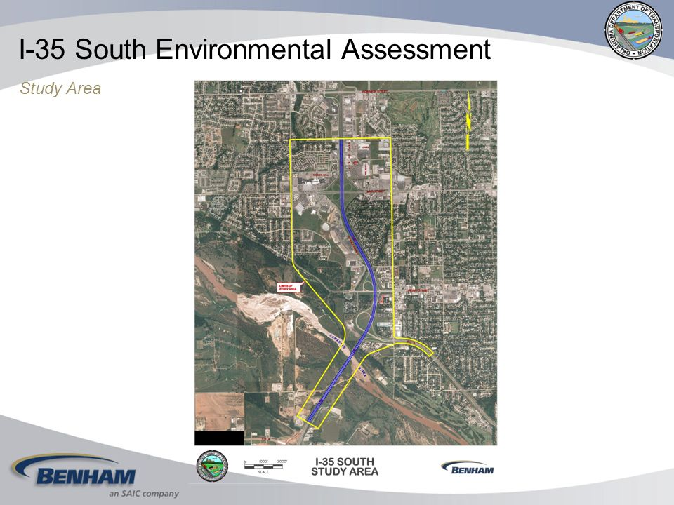 I-35 South Environmental Assessment Study Area