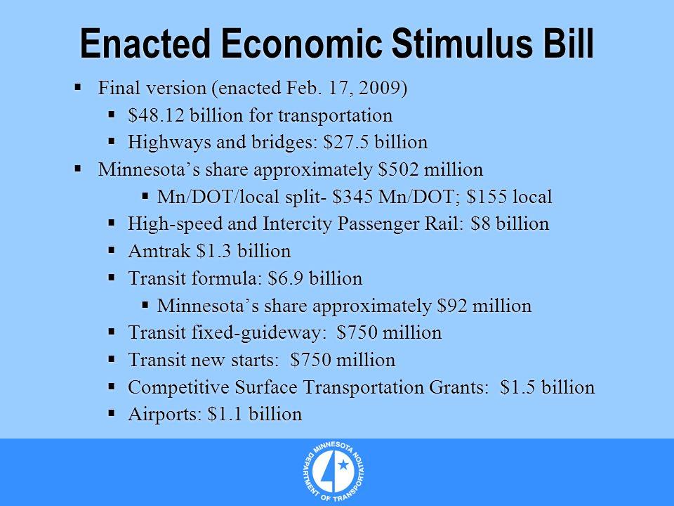 Enacted Economic Stimulus Bill Final version (enacted Feb.