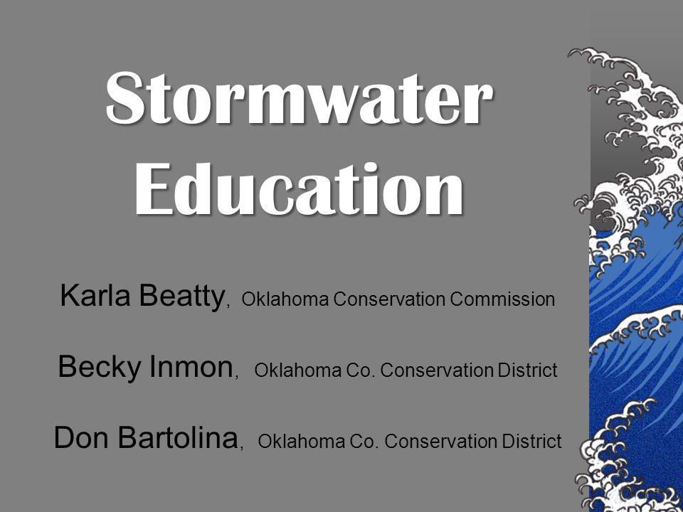 Oklahoma Conservation Commission Oklahoma Conservation Districts The Oklahoma Conservation Commission and conservation districts accomplish conservation of renewable natural resources through soil and water conservation, land use planning, small watershed upstream flood control, abandoned mine land reclamation, water quality monitoring, conservation education and wetlands conservation.