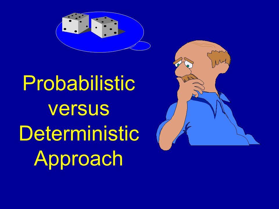Probabilistic versus Deterministic Approach