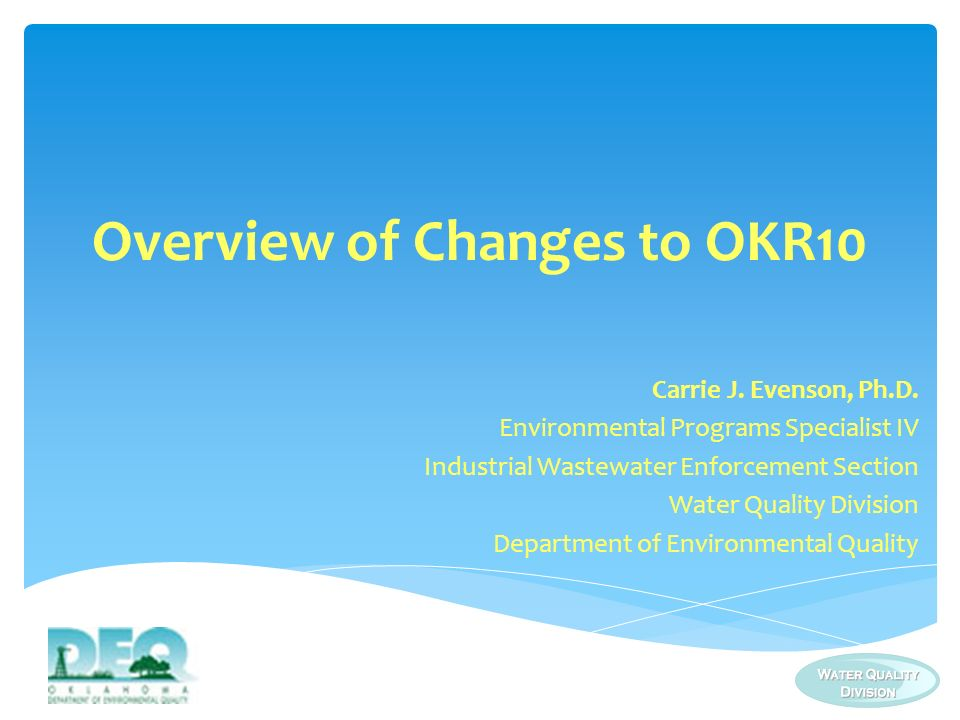 Permit Drafting Process Overview of Changes Application Process Outline
