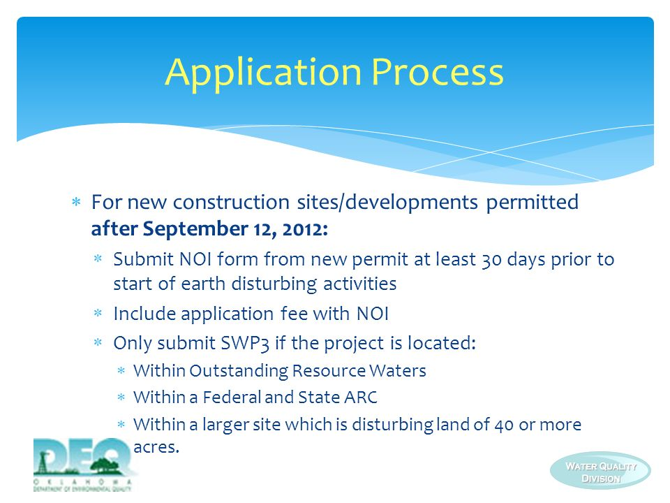 For all: Mail to: DEQ/Environmental Complaints and Local Services (ECLS) Storm Water Unit P.O.