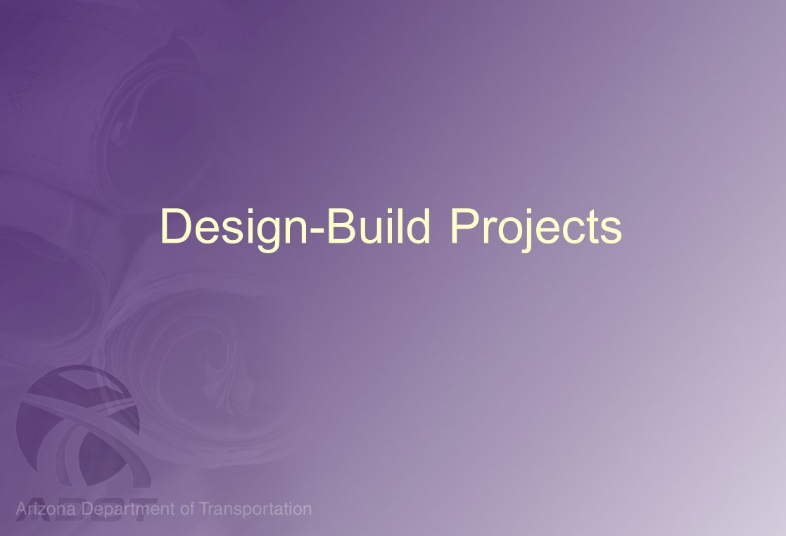 Design-Build Projects