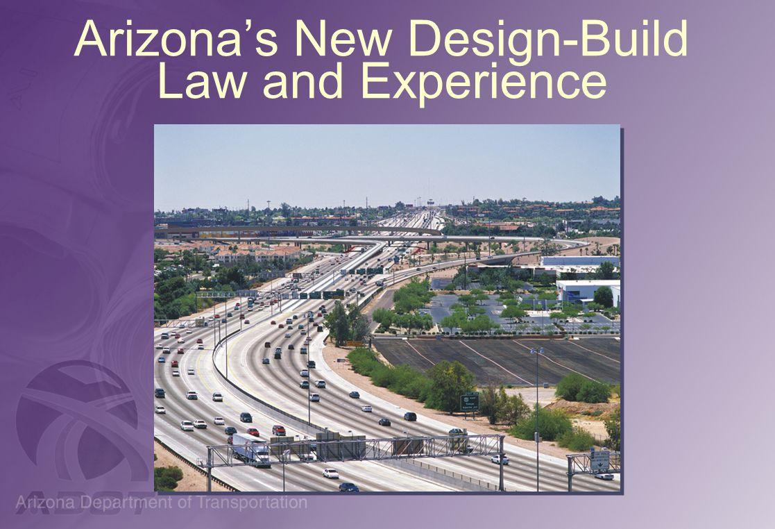 Arizonas New Design-Build Law and Experience