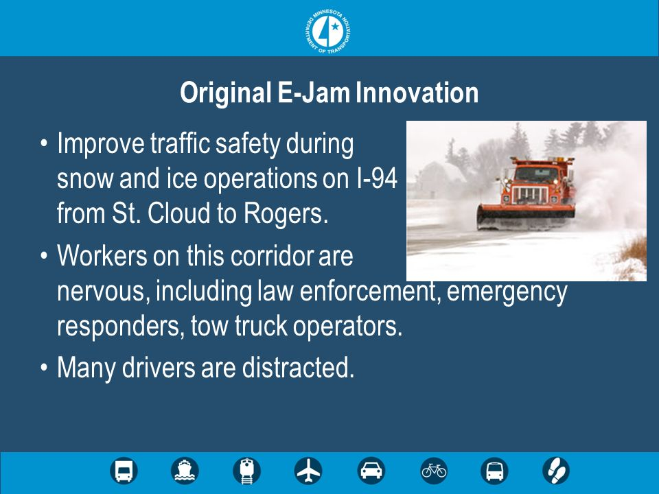 During snow events visibility along the corridor is reduced and road surfaces have reduced friction.