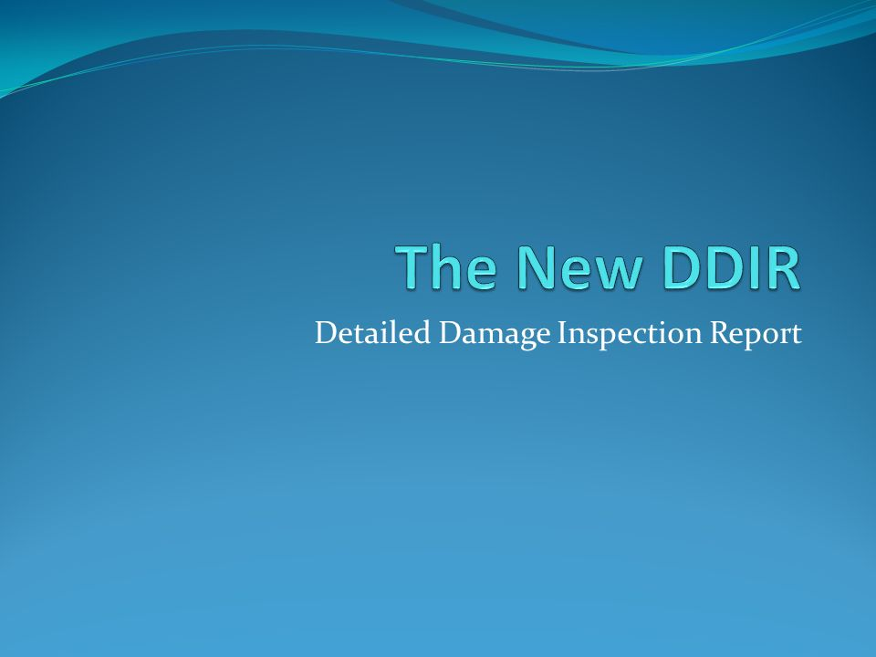 Detailed Damage Inspection Report