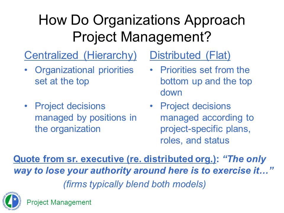 Project Management How Do Organizations Approach Project Management.