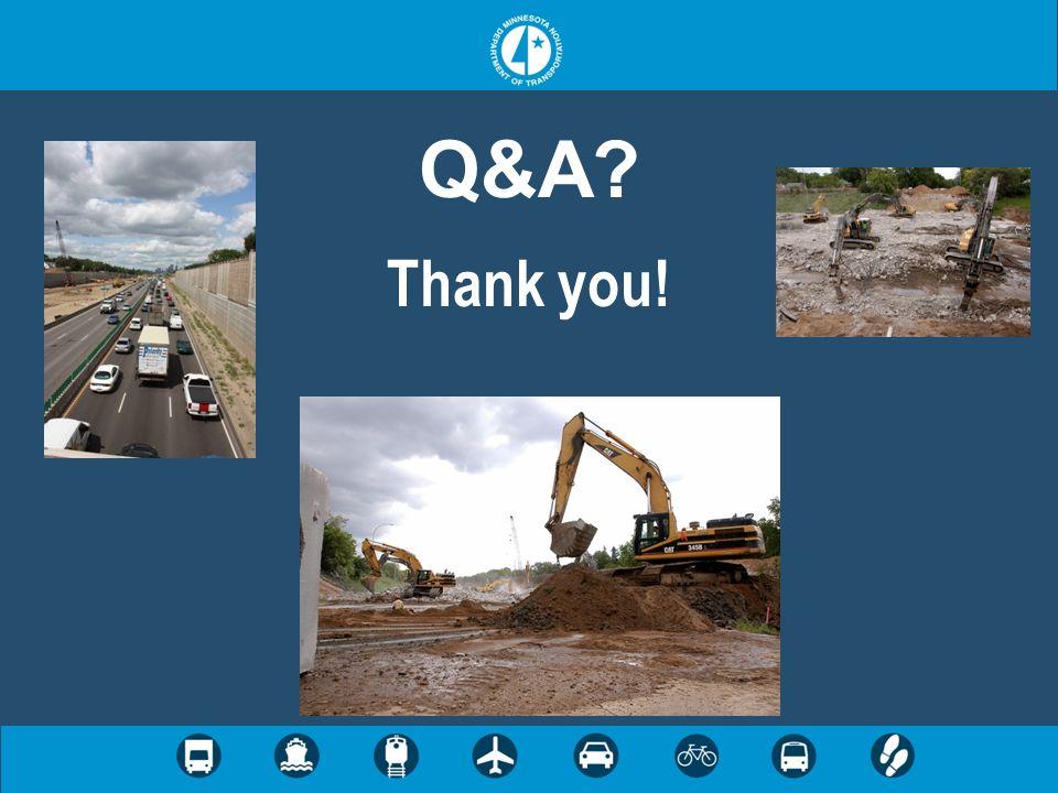 Q&A? Thank you!