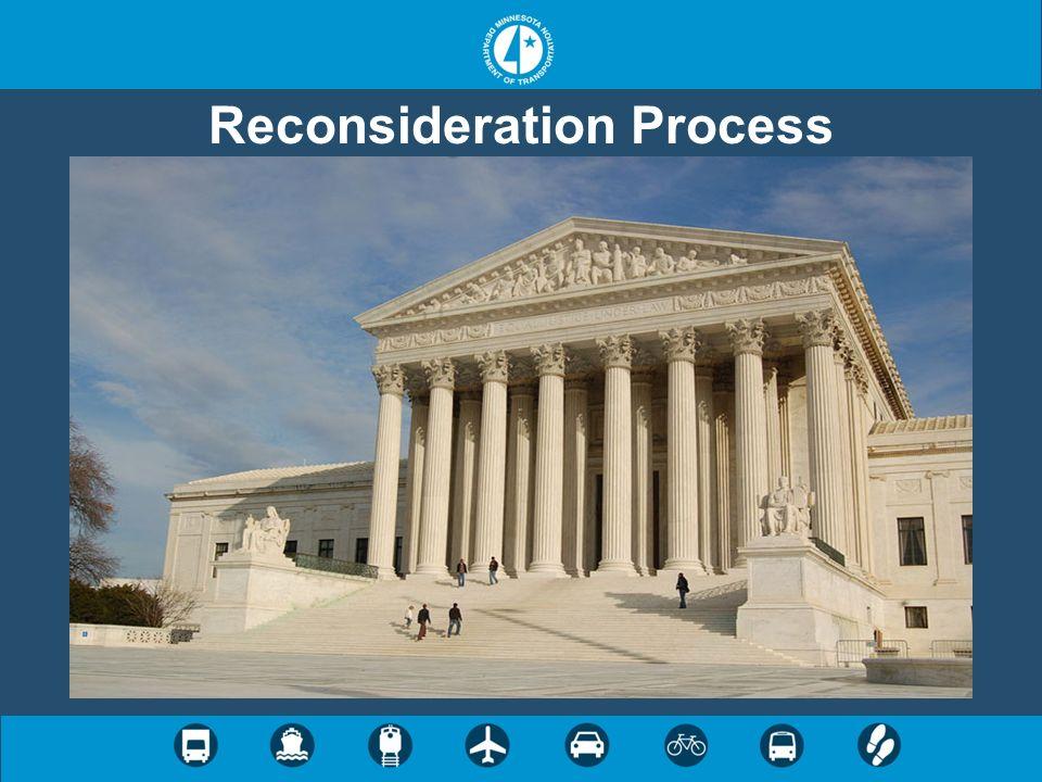 Reconsideration Process