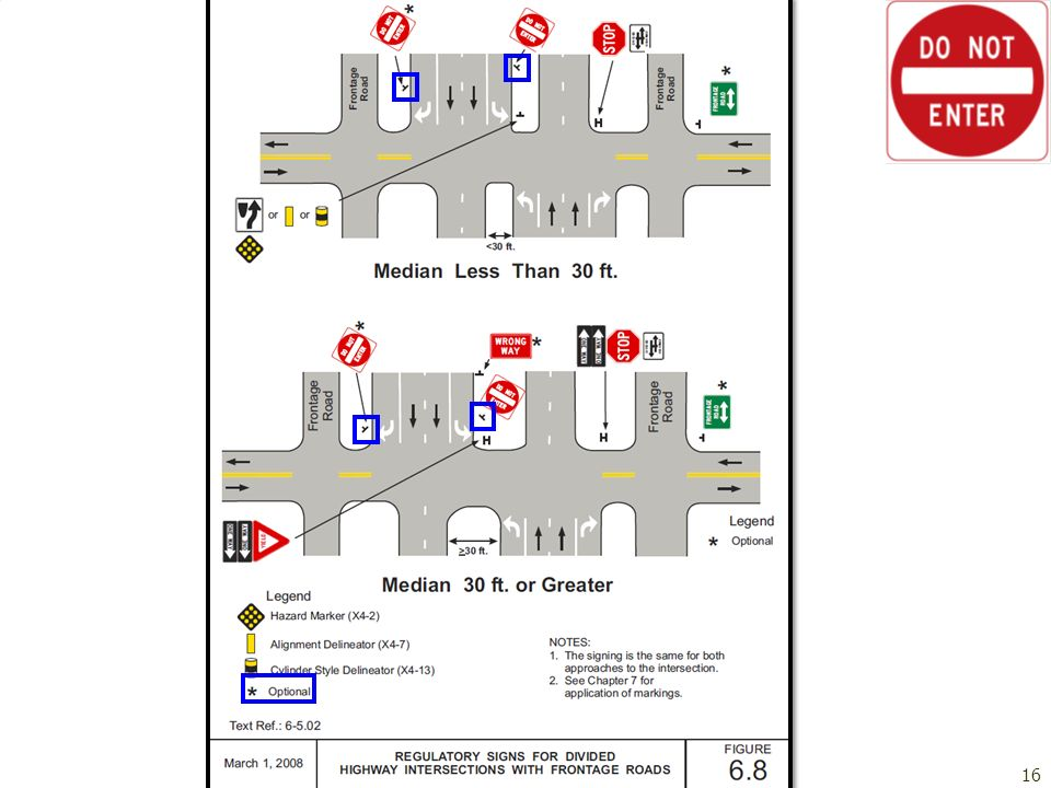Office of Traffic, Safety, and Operations Application Guidelines – Regulatory Signs16