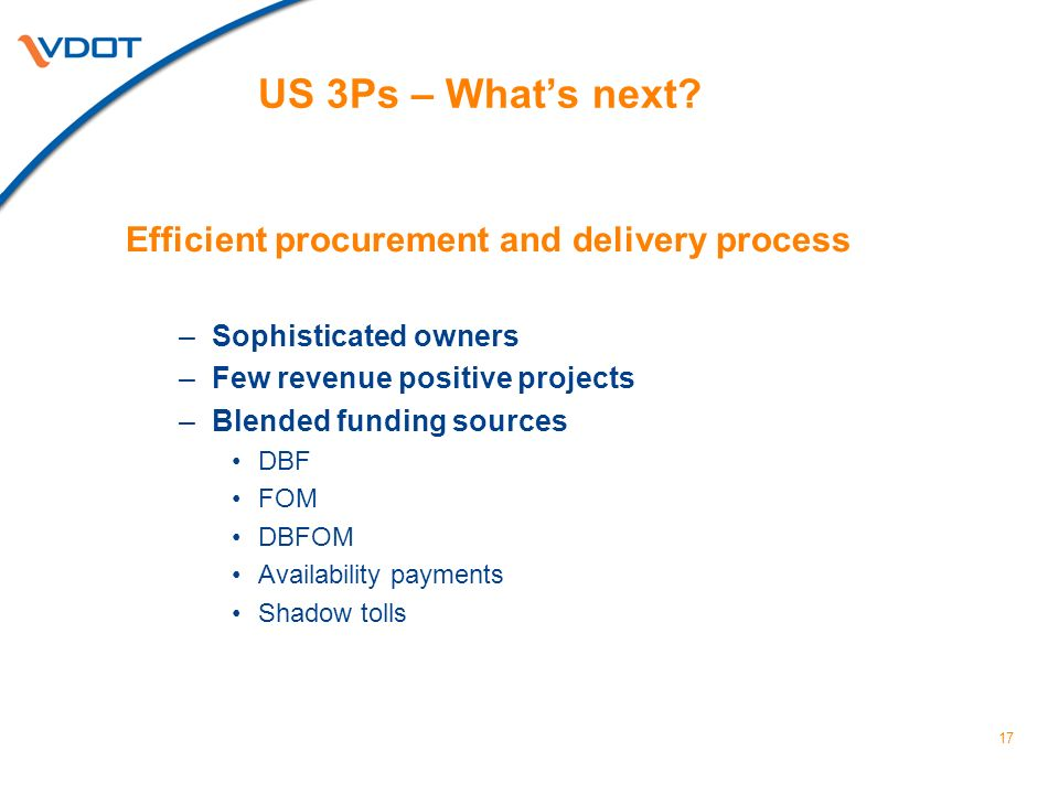 17 US 3Ps – Whats next.