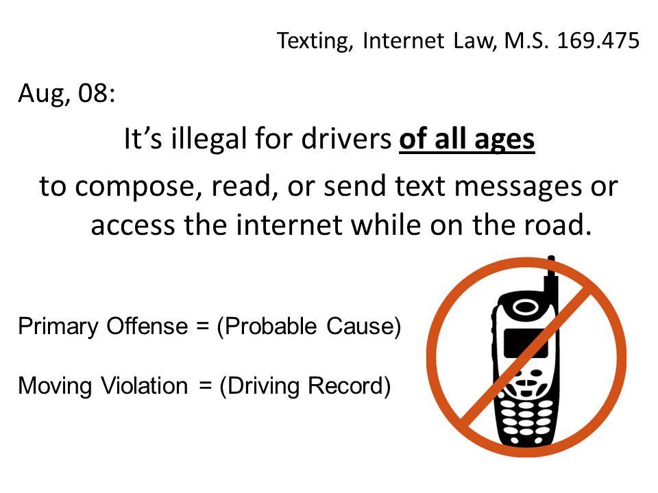 Texting, Internet Law, M.S.