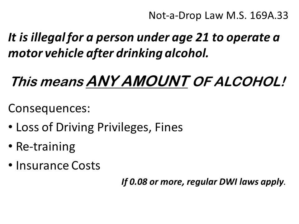 Not-a-Drop Law M.S.