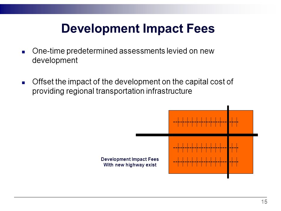 Negotiated Exactions Non formulaic or preset contributions for the local transportation improvements decided through negotiation.
