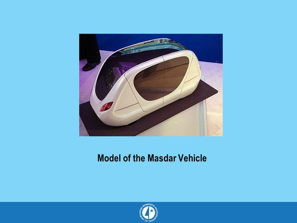 Model of the Masdar Vehicle