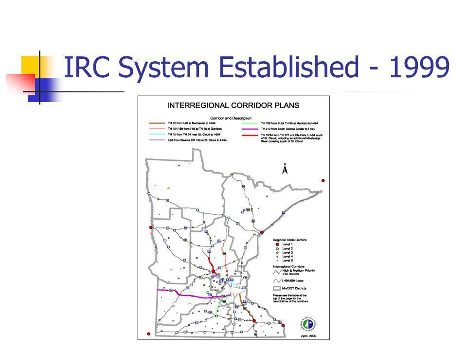 IRC System Established - 1999