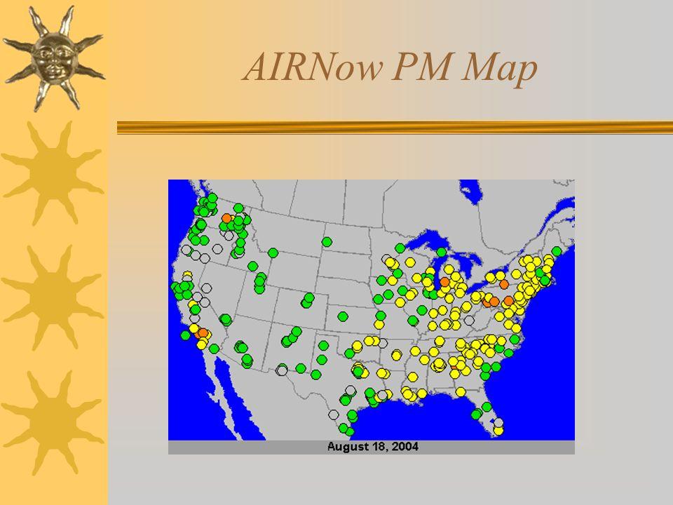 AIRNow PM Map