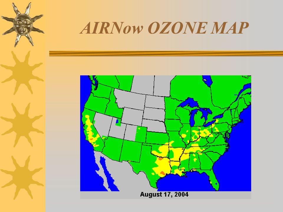 AIRNow OZONE MAP