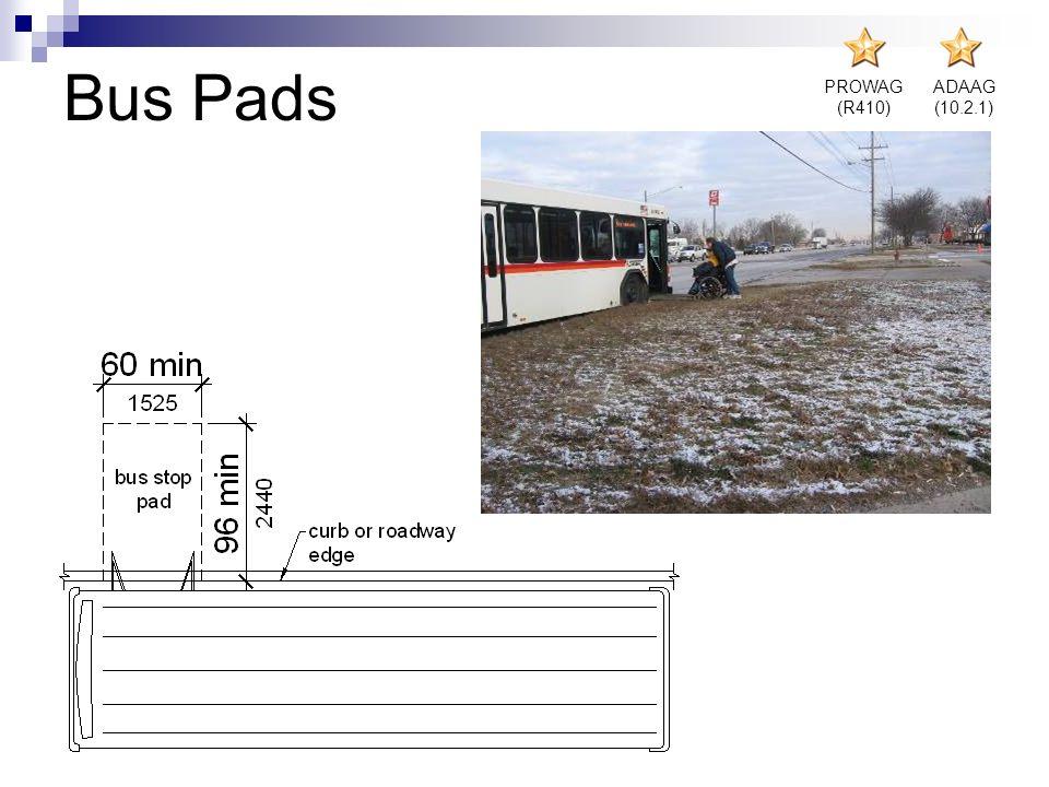 PROWAG (R410) ADAAG (10.2.1) Bus Pads