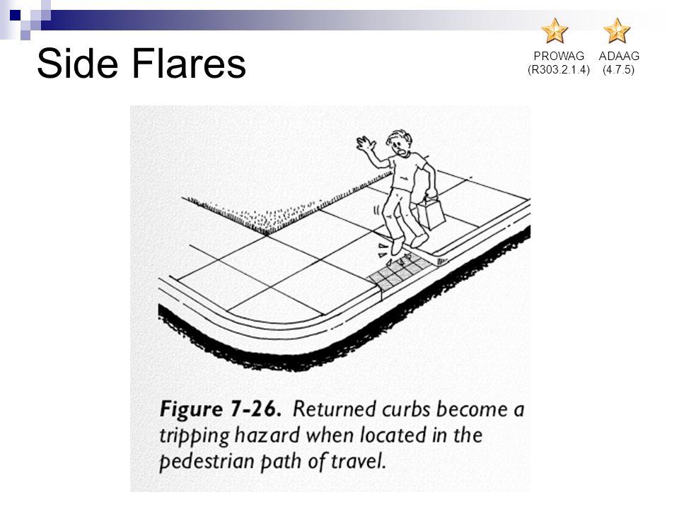 PROWAG (R303.2.1.4) ADAAG (4.7.5) Side Flares