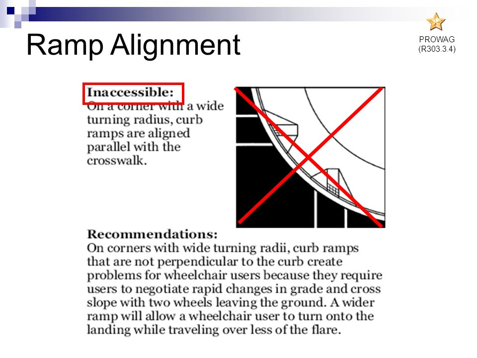 PROWAG (R303.3.4) Ramp Alignment