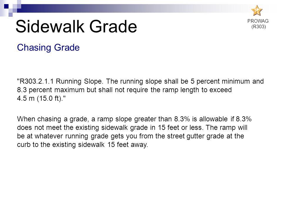Sidewalk Grade Chasing Grade