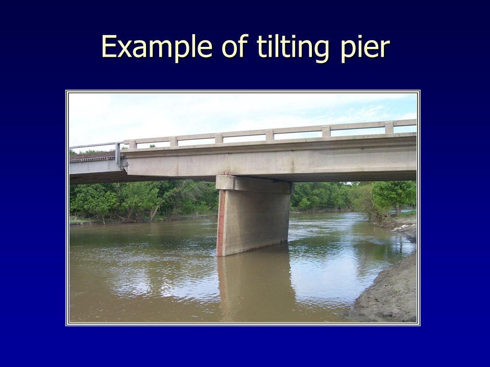 Example of tilting pier