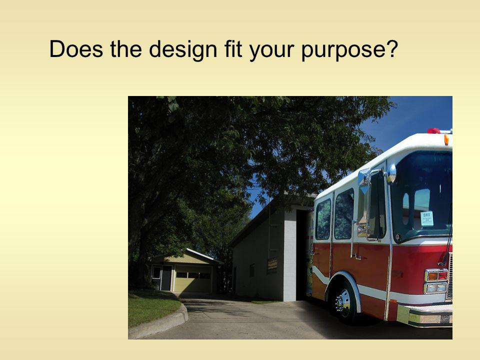 Does the design fit your purpose