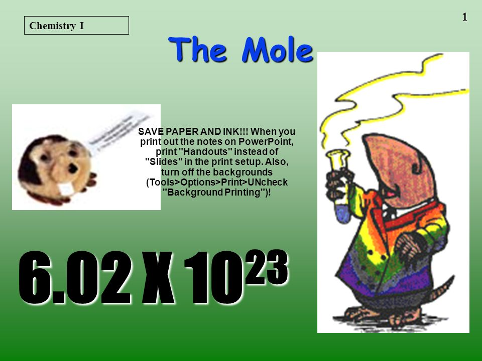 11 The Mass of 1 mole (in grams) Equal to the numerical value of the average atomic mass (get from periodic table) 1 mole of C atoms= 12.0 g 1 mole of Mg atoms =24.3 g 1 mole of Cu atoms =63.5 g Molar Mass