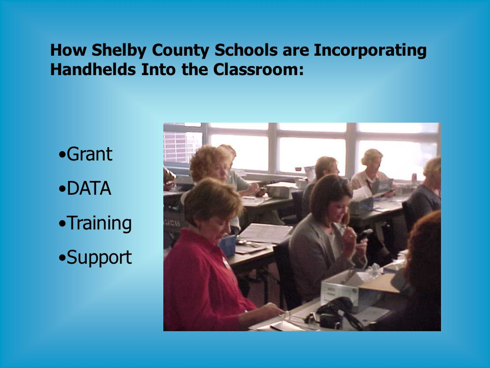 How Shelby County Schools are Incorporating Handhelds Into the Classroom: Grant DATA Training Support