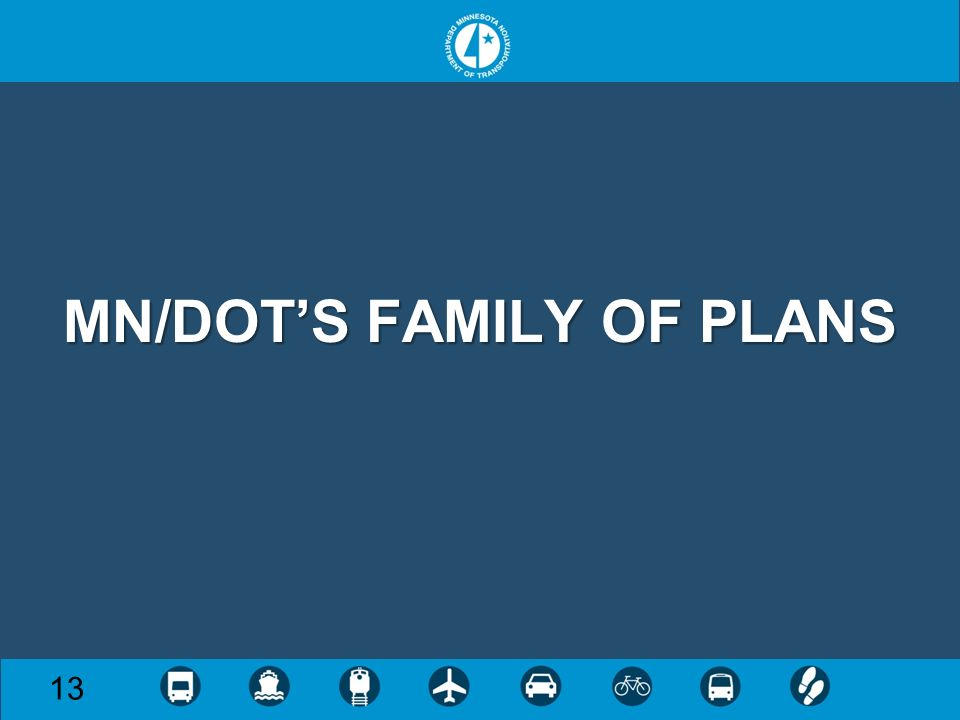 MN/DOTS FAMILY OF PLANS 13