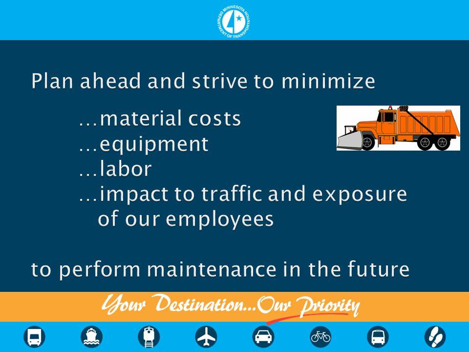 Minimal/No shoulder forces maintenance into traffic lanes
