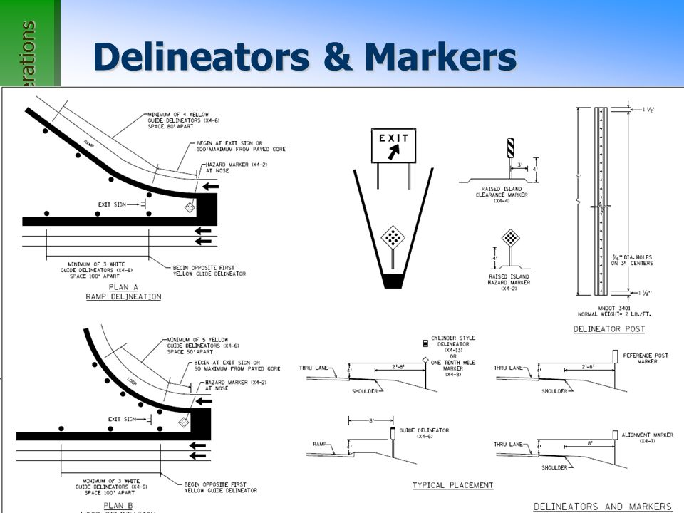 Office of Traffic, Safety, and Operations 61 Delineators & Markers