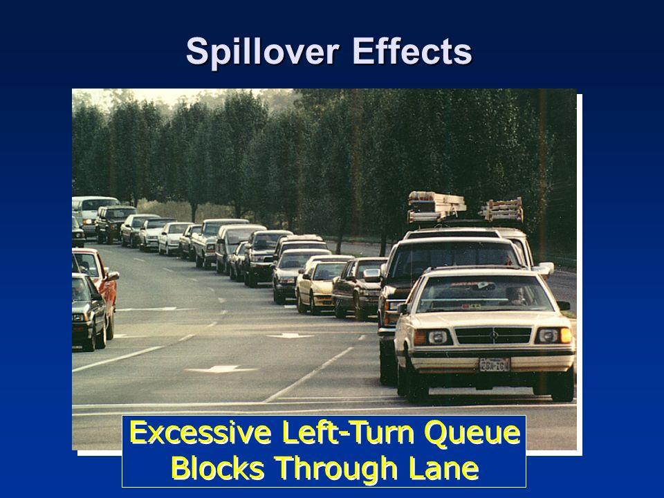 Spillover Effects Excessive Left-Turn Queue Blocks Through Lane