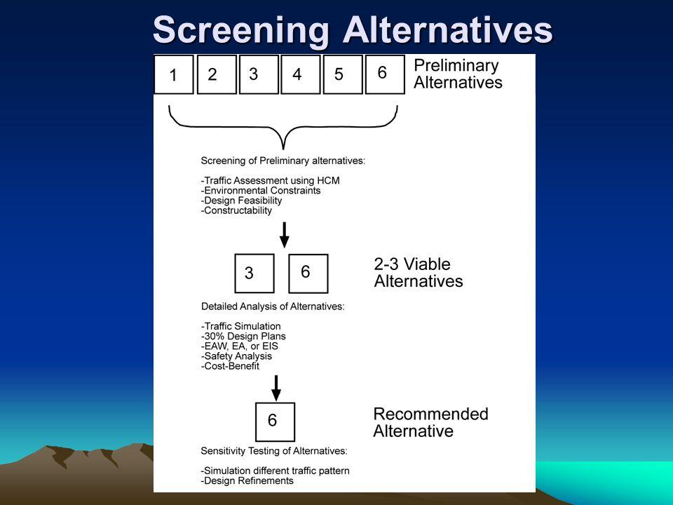Screening Alternatives