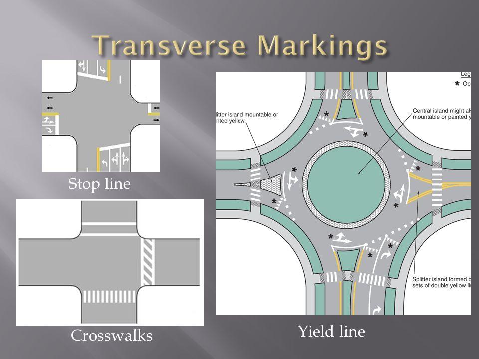 Stop line Crosswalks Yield line