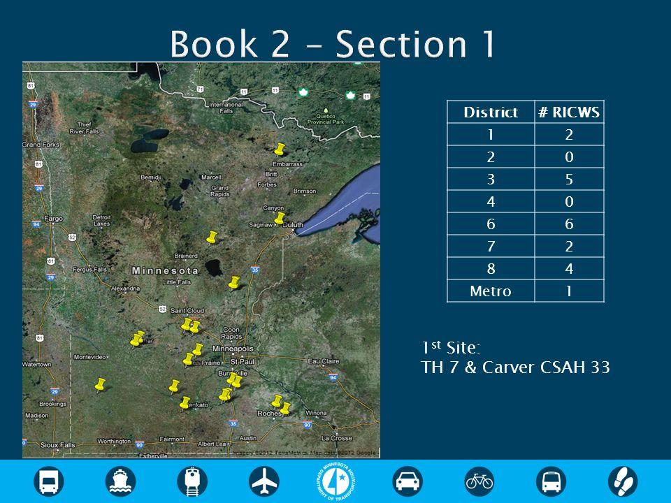 District# RICWS 12 20 35 40 66 72 84 Metro1 1 st Site: TH 7 & Carver CSAH 33