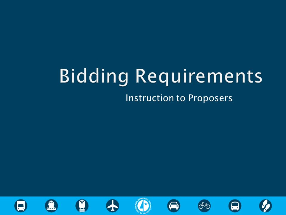 Instruction to Proposers