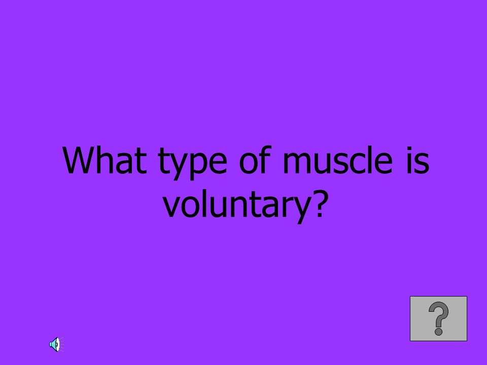 What type of muscle is voluntary?