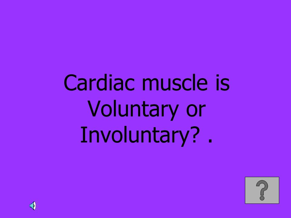 Cardiac muscle is Voluntary or Involuntary?.