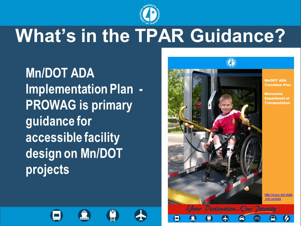 Whats in the TPAR Guidance.