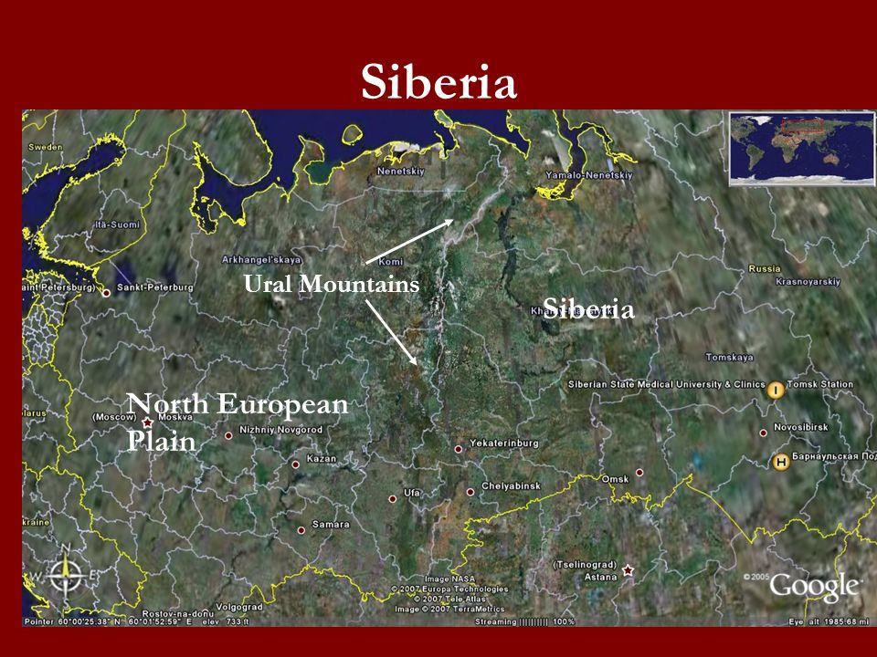 Siberia Ural Mountains North European Plain Siberia