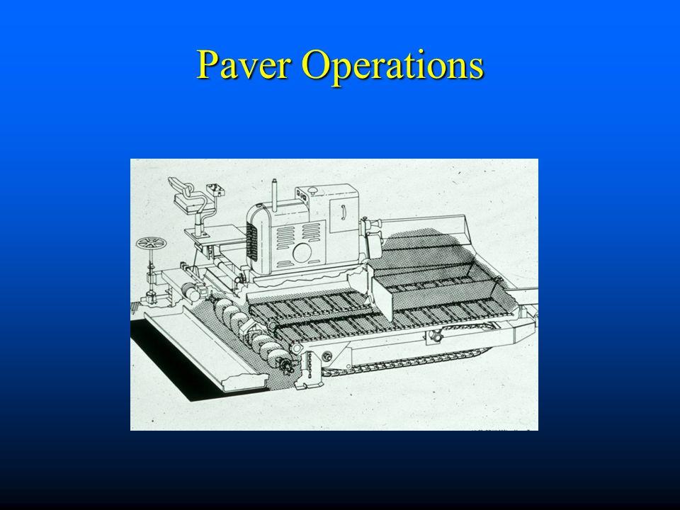 Paver Operations